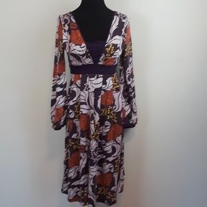 NWT Aryeh floral knit midi dress w/ bubble sleeves